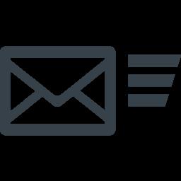 メール送信のアイコン素材